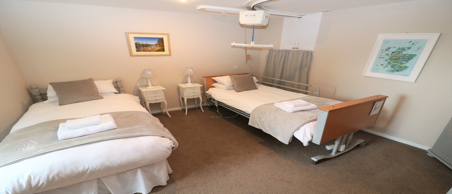 HOLIDAY COTTAGES WITH CEILING TRACKING HOISTS IN SCOTLAND